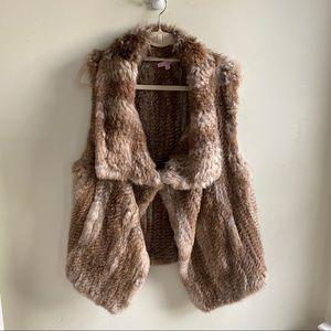 Calipso St. Barth Rabbit Fur Yali Vest Sz L